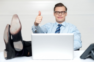 Businessman Thumbs Up - Professional?