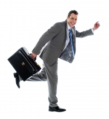 Consultant leaving a client